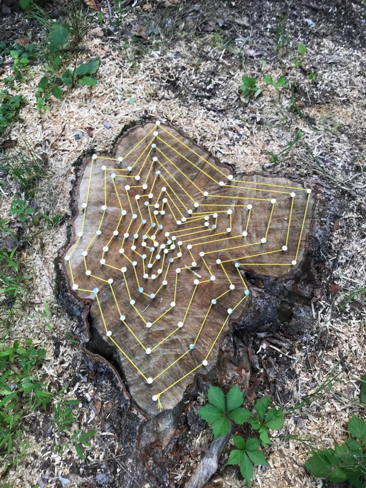 Tom Kotik sculpture at White Rock Center for Sculptural Arts